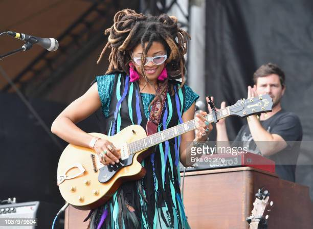 Valerie June performs onstage during day 1 of Pilgrimage Music Cultural Festival 2018 on September 22 2018 in Franklin Tennessee