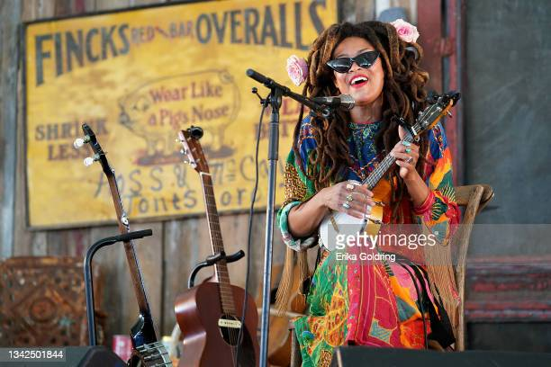 Valerie June performs onstage during day one of the Pilgrimage Music & Cultural Festival on September 25, 2021 in Franklin, Tennessee.