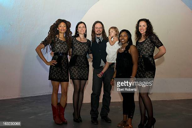Valerie June Shannon McNally Luther Dickinson Sharde Thomas Amy LaVere of The Wandering pose for a group portrait backstage after performing at the...