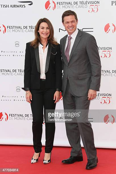 Valerie Kaprisky and Eric Close attend the 55th Monte Carlo TV Festival Opening Ceremony at the Grimaldi Forum on June 13 2015 in MonteCarlo Monaco