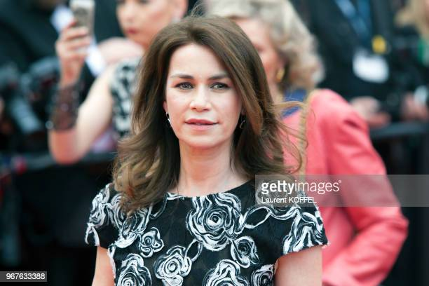 Valerie Kaprisky attends the 'Slack Bay ' premiere during the 69th annual Cannes Film Festival at the Palais des Festivals on May 13, 2016 in Cannes,...