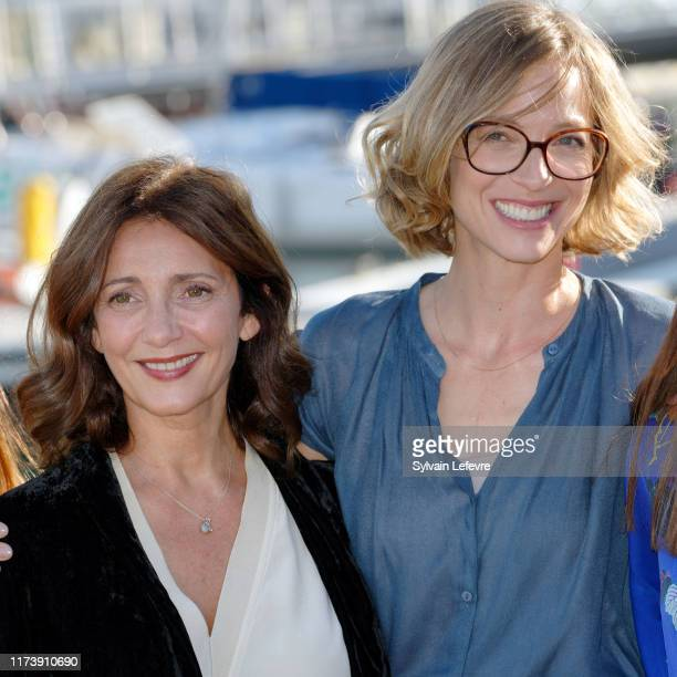 Valerie Karsenti and Elodie Frenck member and president of jury attend the Jury photocall during the 21th Festival of TV Fiction At La Rochelle on...