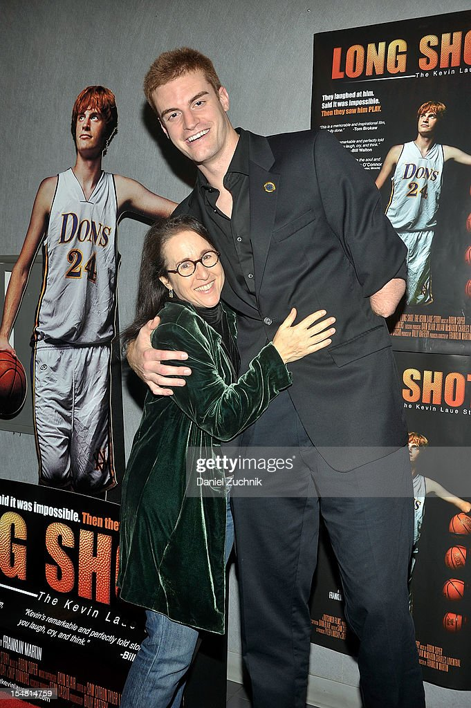Valerie Landsburg and Kevin Laue attend the 'Long Shot: The Kevin Laue Story' New York Premiere at Quad Cinema on October 26, 2012 in New York City.