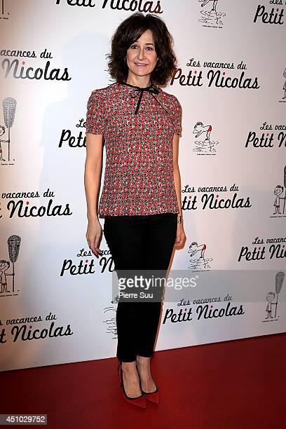 Valerie Lemercier attend the premiere of 'les Vacances Du Petit Nicolas' at Cinema Gaumont Capucine on June 22 2014 in Paris France