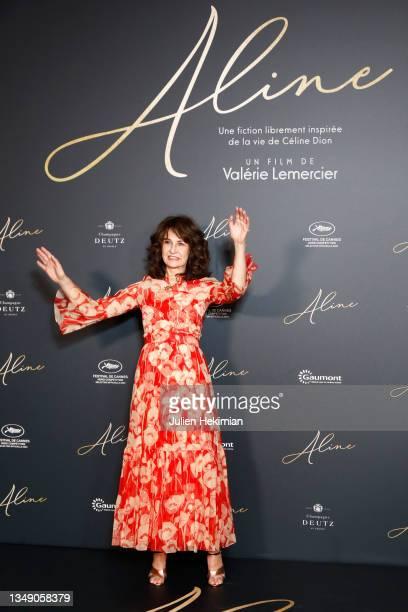 "Valerie Lemercier attends ""Aline"" premiere at Le Grand Rex on October 25, 2021 in Paris, France."