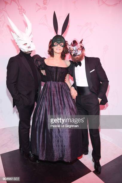 Valerie Lemercier attends Le Bal Surrealiste Dior during Haute Couture Spring Summer 2018 show as part of Paris Fashion Week on January 22 2018 in...