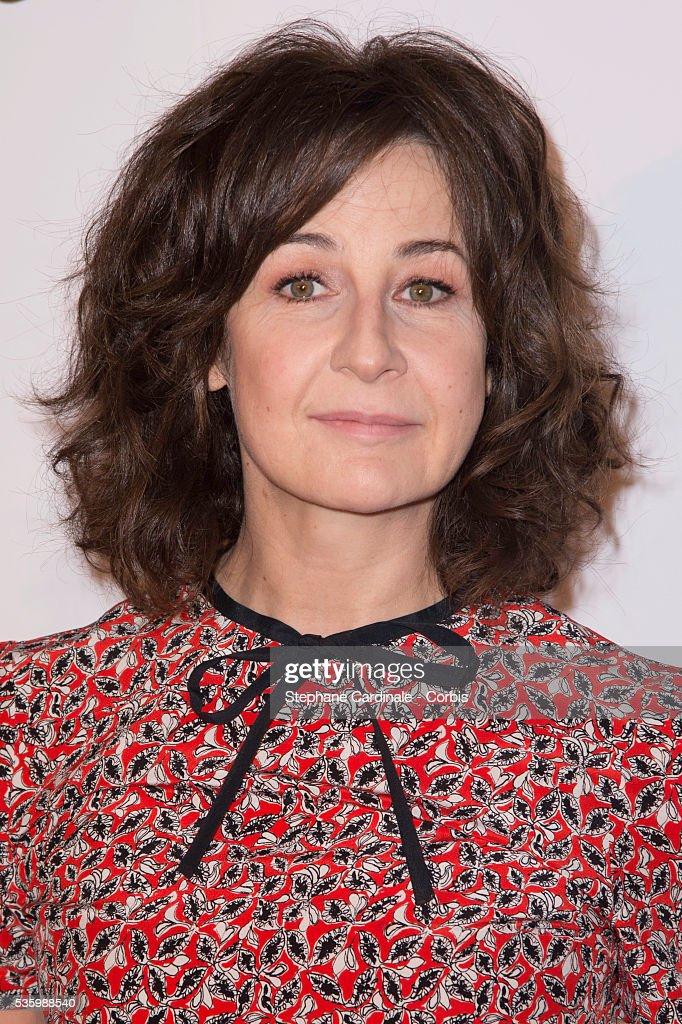 Valerie Lemercier attends the 'les vacances du petit Nicolas' Premiere at Cinema Gaumont Capucine, in Paris.