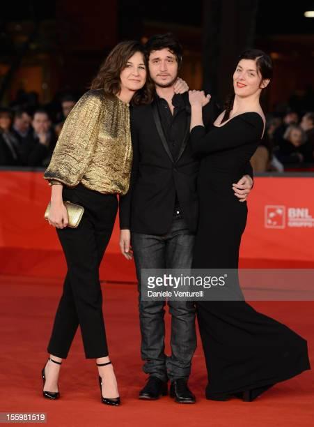 Valerie Lemercier Jeremie Elkaim and Valerie Donzelli attend the 'Main Dans La Main' Premiere during the 7th Rome Film Festival at the Auditorium...