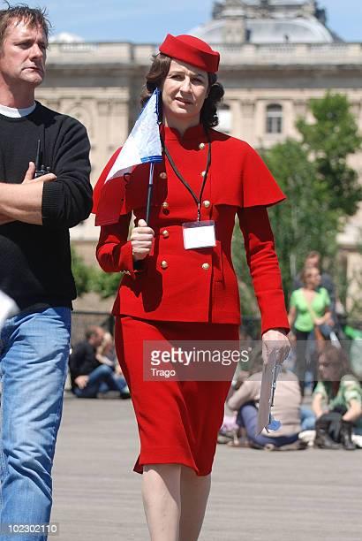 Valerie Lemercier on location for 'MonteCarlo' in Paris on June 22 2010 in Paris France