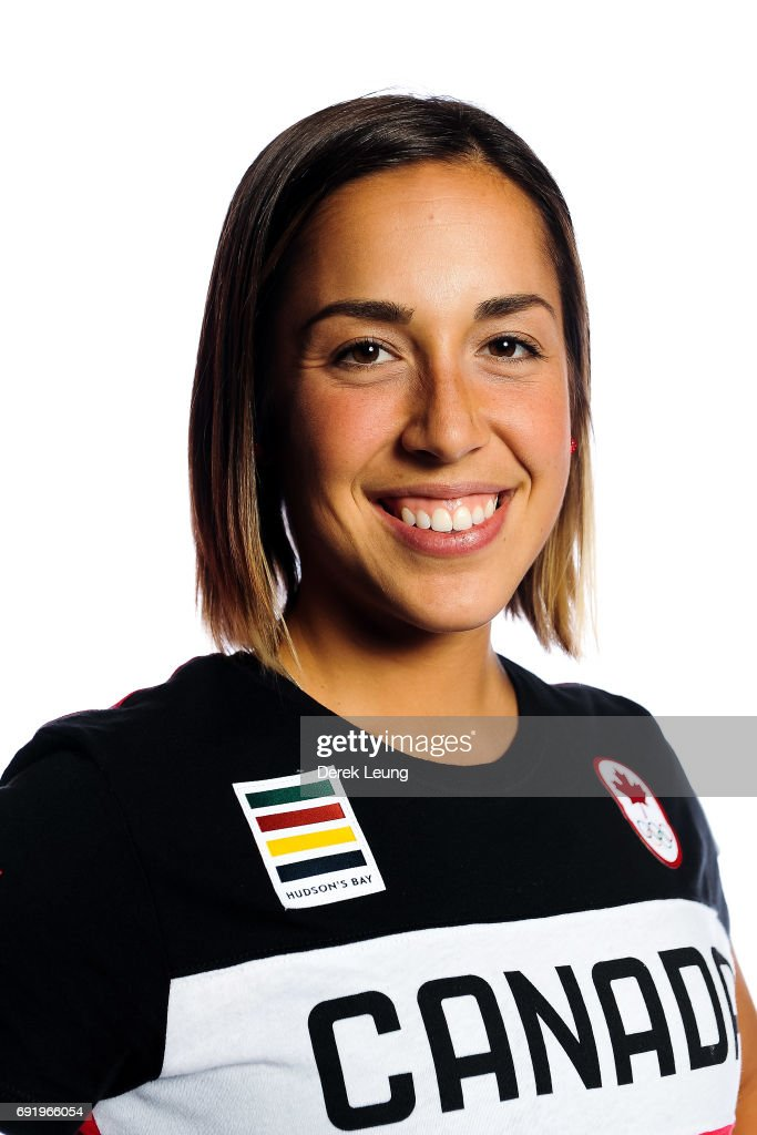 Valerie Maltais poses for a portrait during the Canadian Olympic Committee Portrait Shoot on June 3, 2017 in Calgary, Alberta, Canada.