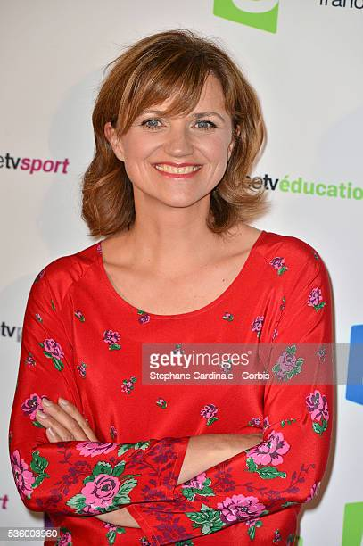 Valerie Maurice attends 'France Televisions' Photocall at Palais De Tokyo on August 26 2014 in Paris France