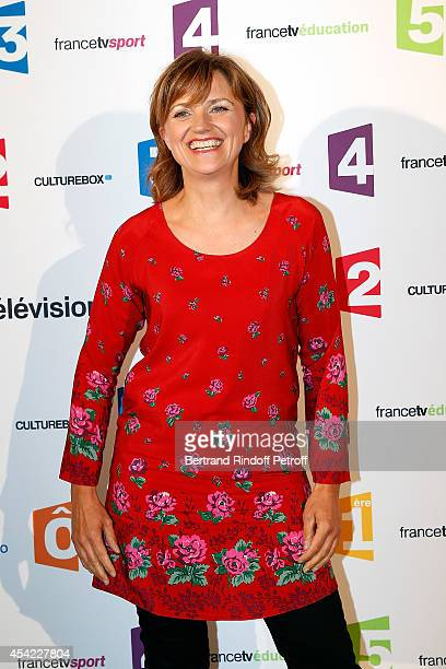 Valerie Maurice attends the 'Rentree De France Televisions' at Palais De Tokyo on August 26 2014 in Paris France