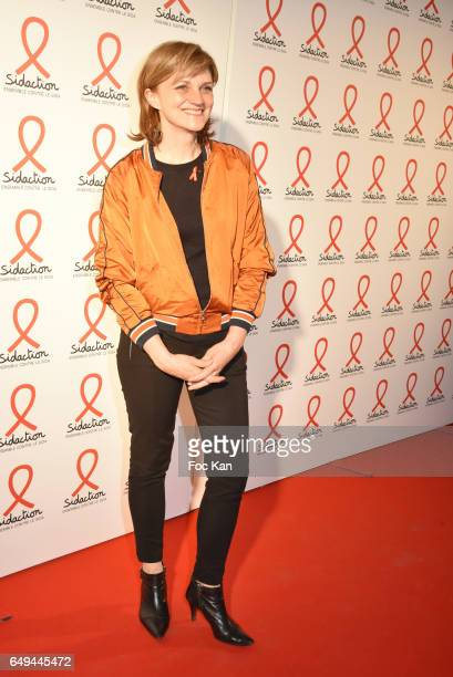 Valerie Maurice attends the Sidaction 2017 Launch Party Photocall at Musee Branly on March 07 2017 in Paris France