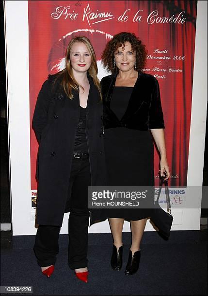 Valerie Mereze and her daughter Tina in Paris France on December 18 2006