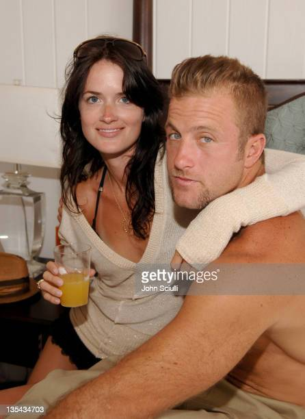 Valerie Michaels and Scott Caan during LOTTO World Cup Viewing Party at Polaroid Beach House at Polaroid Beach House in Malibu CA United States
