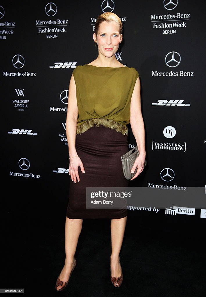 Valerie Niehau attends Dawid Tomaszewski Autumn/Winter 2013/14 fashion show during Mercedes-Benz Fashion Week Berlin at Brandenburg Gate on January 18, 2013 in Berlin, Germany.