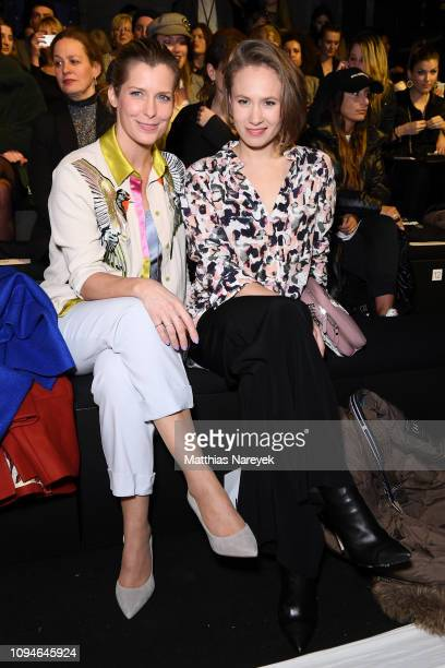 Valerie Niehaus and Alina Levshin attend the KXXK show during the Berlin Fashion Week Autumn/Winter 2019 at ewerk on January 15 2019 in Berlin Germany