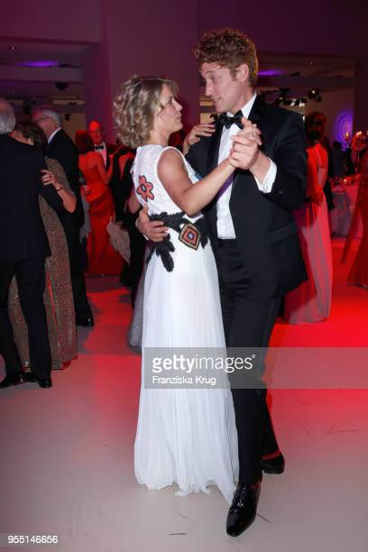 Valerie Niehaus and Daniel Donskoy during the Rosenball charity event at Hotel Intercontinental on May 5 2018 in Berlin Germany