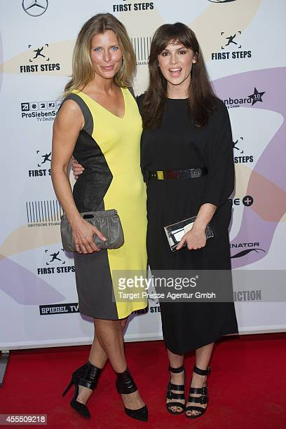 Valerie Niehaus and Natalia Avelon attend the 'First Steps Award 2014' at Stage Theater on September 15 2014 in Berlin Germany