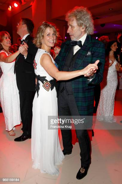 Valerie Niehaus and Thomas Gottschalk during the Rosenball charity event at Hotel Intercontinental on May 5 2018 in Berlin Germany