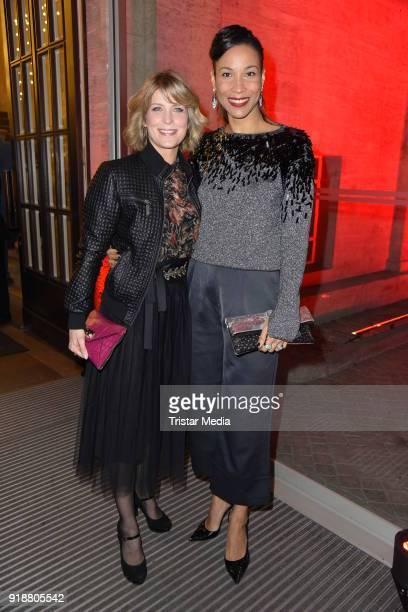 Valerie Niehaus Annabelle Mandeng during the Berlin Opening Night by GALA and UFA Fiction at Das Stue on February 15 2018 in Berlin Germany