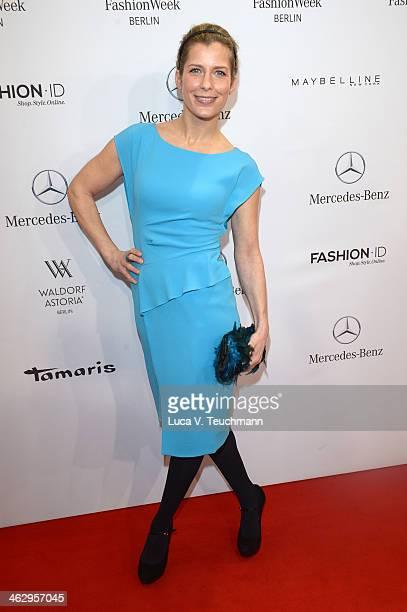 Valerie Niehaus attends the Laurel show during MercedesBenz Fashion Week Autumn/Winter 2014/15 at Brandenburg Gate on January 16 2014 in Berlin...
