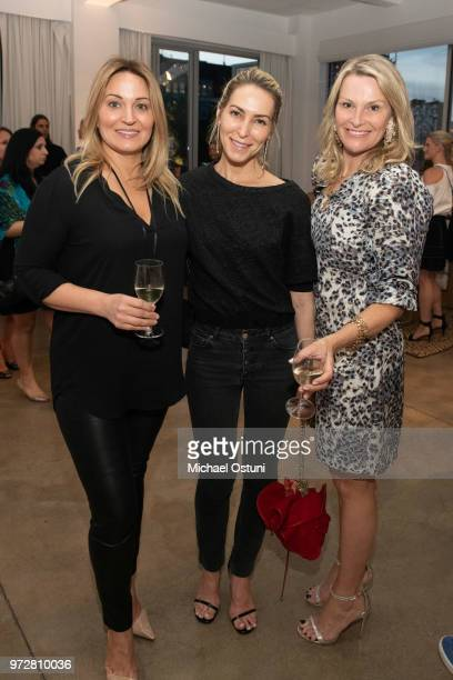 Valerie Ohrstrom Lucia Engstrom Davidson and Catrine Salz attend the International Medical Corps Summer Benefit at Milk Studios on June 12 2018 in...