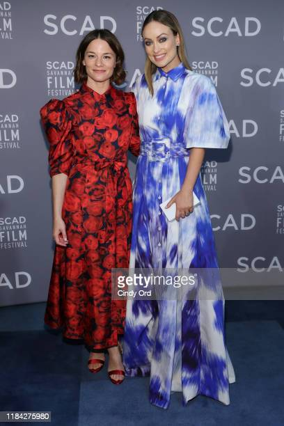 Valerie Pachner and Olivia Wilde attends the 22nd SCAD Savannah Film Festival on October 29, 2019 at Gutstein Gallery in Savannah, Georgia.