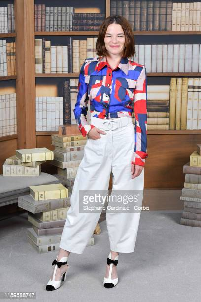 Valerie Pachner attends the Chanel photocall as part of Paris Fashion Week Haute Couture Fall Winter 2020 at Grand Palais on July 02 2019 in Paris...