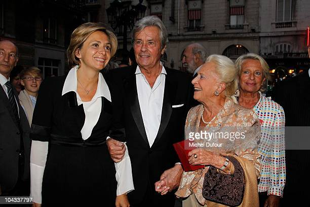 Valerie Pecresse Alain Delon and Me Nicole Dassault attend the IFRAD 6th Gala at Opera Comique on September 21 2010 in Paris France