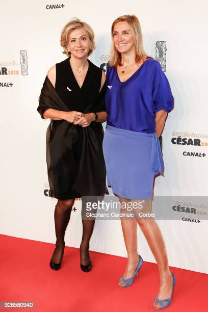 Valerie Pecresse and a guest arrive at the Cesar Film Awards 2018 at Salle Pleyel at Le Fouquet's on March 2 2018 in Paris France