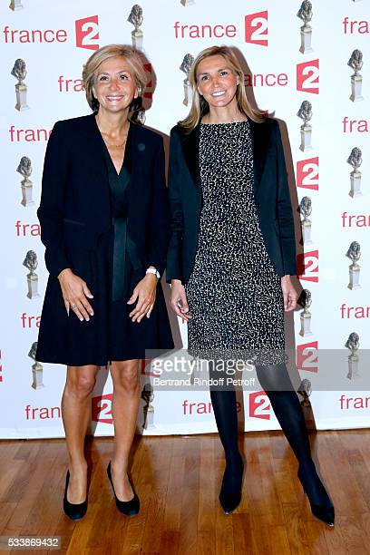 Valerie Pecresse and Agnes Evren attend 'La 28eme Nuit des Molieres' on May 23 2016 in Paris France