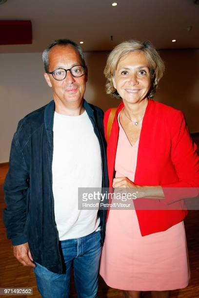 """Valerie Pecresse and her husband Jerome Pecresse attend """"Sans Moderation"""" Laurent Gerra's One Man Show at Palais des Congres on June 9, 2018 in..."""
