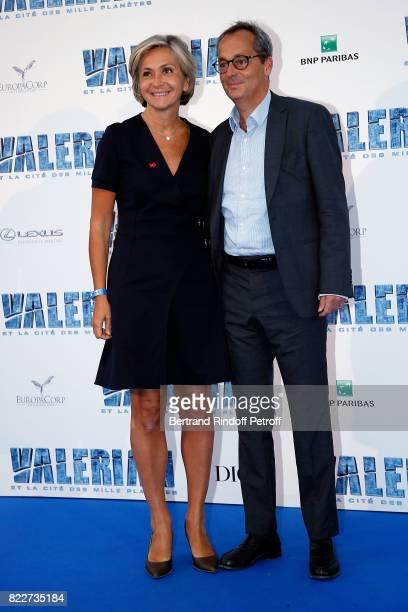 Valerie Pecresse and her husband Jerome Pecresse attend 'Valerian et la Cite des Mille Planetes' Paris premiere at La Cite Du Cinema on July 25 2017...