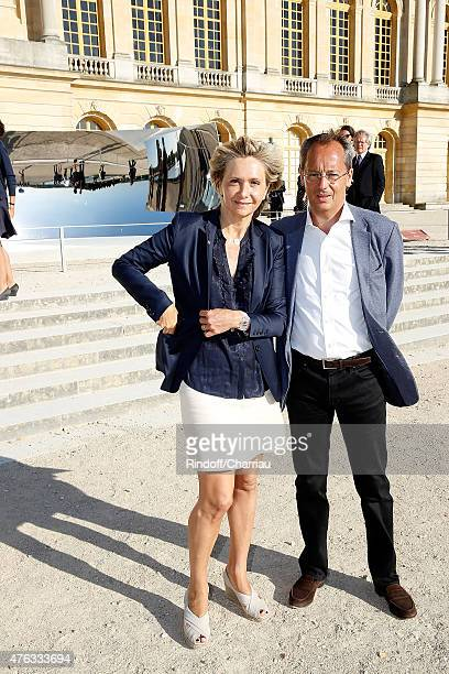 Valerie Pecresse and his husband Jerome Pecresse attend the Grand Opening Anish Kapoor's Exhibition at Chateau de Versailles on June 7, 2015 in...