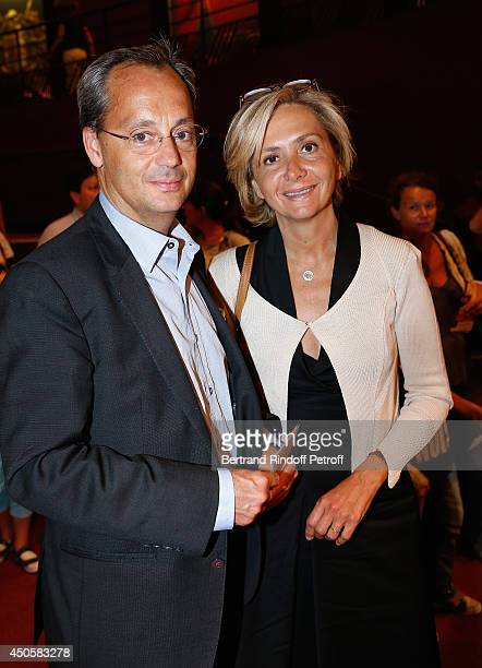 Valerie Pecresse and Jerome Pecresse attend the one man show of Pierre Richard 'Le Vendredi 13 De Pierre Richard' at L'Olympia on June 13, 2014 in...