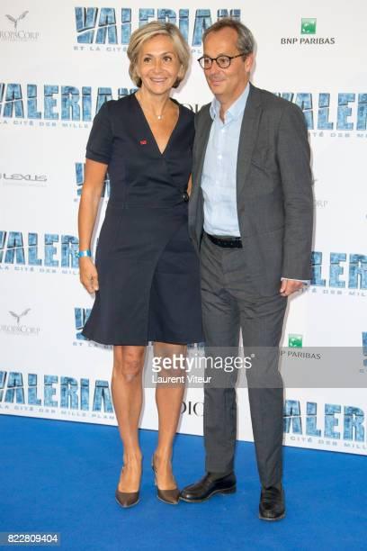 """Valerie Pecresse and Jerome Pecresse attend """"Valerian et la Cite desMille Planetes"""" Paris Premiere at La Cite Du Cinema on July 25, 2017 in..."""