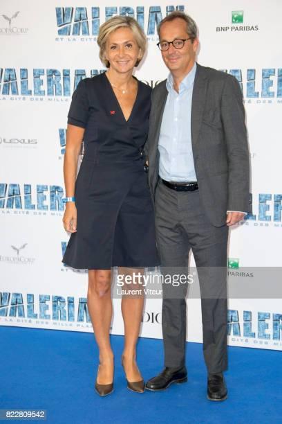Valerie Pecresse and Jerome Pecresse attend 'Valerian et la Cite desMille Planetes' Paris Premiere at La Cite Du Cinema on July 25 2017 in SaintDenis...