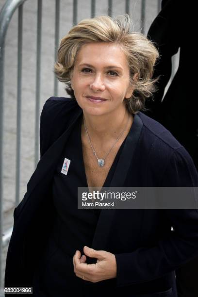Valerie Pecresse arrives to welcome Newlyelected President Emmanuel Macron on the ChampsElysees avenue after the handover ceremony with France's...