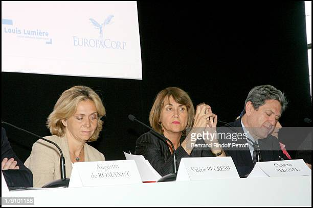 Valerie Pecresse Christine Albanel and Christian Blanc at Press Conference For The Launch Of La Cite Du Cinema At St Denis