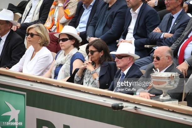 Valerie Pecresse French Minister of Sports Roxana Maracineanu Mayor of Paris Anne Hidalgo Rod Laver President of French Tennis Federation FFT Bernard...