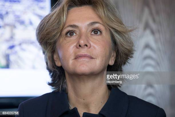 Valerie Pecresse president of the Paris region attends a news conference at a 'Paris Meets London' meeting organized by Paris Europlace the French...
