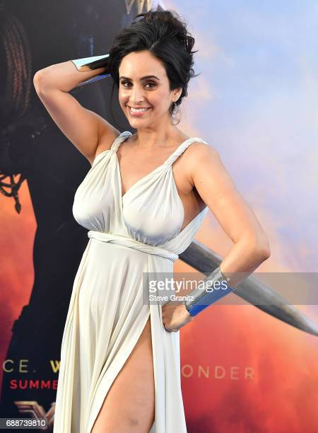 Valerie Perez arrives at the Premiere Of Warner Bros Pictures' 'Wonder Woman' at the Pantages Theatre on May 25 2017 in Hollywood California