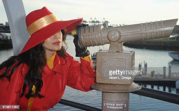 Valerie Perez as Carmen San Diego attends day 1 of the 8th Annual Long Beach Comic Expo held at Long Beach Convention Center on February 17 2018 in...