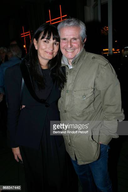 Valerie Perrin and Claude Lelouch attend Claude Lelouch celebrates his 80th Birthday at Restaurant Victoria on October 30 2017 in Paris France