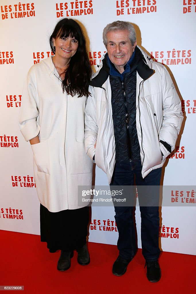 Valerie Perrin and Claude Lelouch attend 'Les Tetes de l''Emploi' Paris Premiere at Cinema Gaumont Opera Capucines on November 14, 2016 in Paris, France.