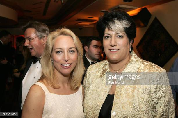 Valerie Plame and Tammy Haddad at Capitol File Magazine's White House Correspondents Dinner after-party at Cafe Milano