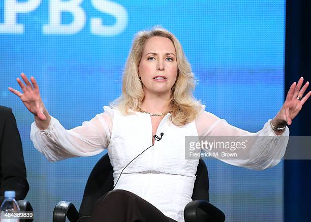 Valerie Plame author and former CIA operations officer speaks onstage during the 'Makers Women Who Make America Business Comedy Hollywood Politics...