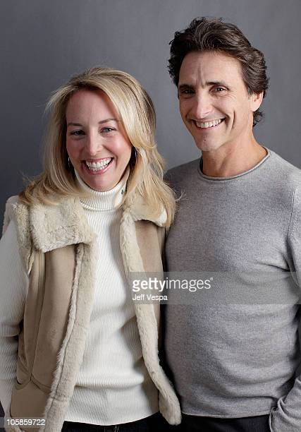 Valerie Plame Wilson and producer Lawrence Bender pose for a portrait during the 2010 Sundance Film Festival held at the WireImage Portrait Studio at...