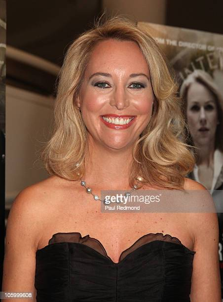 Valerie Plame Wilson arrives at the Fair Game Los Angeles Premiere at the Museum of Tolerance on October 24 2010 in Los Angeles California